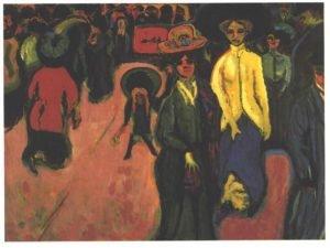 Street, Dresden, Ernst Ludwig Kirchner, 1908, Museum of Modern Art